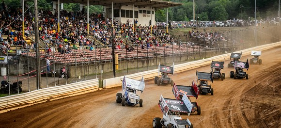 All Stars during heat race action at Bedford Speedway in 2015 - (Jason Walls Photo)