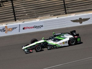 Bryan Clauson on track Sunday at the Indianapolis Motor Speedway.  (Eric McCombs Photo)