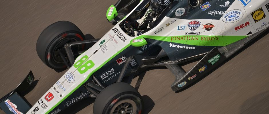 Bryan Clauson during the Wednesday Indianapolis 500 practice. (Walter Kuhn Photo)