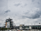Rain at the Indianapolis Motor Speedway on Tuesday. (Chris Owens Photo)