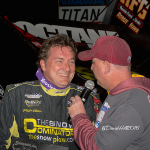 Terry in Victory Lane at Oskaloosa. (Dave Hill Photo)