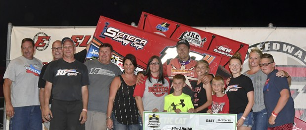 "The ""Wild Child"" Jac Haudenschild certainly lived up to his label on Saturday night at Eldora Speedway, earning the Ohio Sprint Speedweek presented by Cometic Gasket finale worth $10,000 with the Arctic Cat All Star Circuit of Champions."