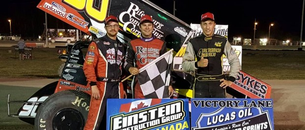 (l to r) Second Place Ryan Turner, winner Matt Tanner, and third place Jordan Poirier. (ESS Photo)