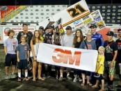 Brian cashed in $5,000 for career win #33 at Knoxville Saturday