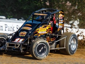 Bedford, Indiana's Brady Short picked up his fifth career Indiana Sprint Week victory Thursday night at Lincoln Park Speedway in Putnamville, Indiana.  (Ryan Sellers Photo)
