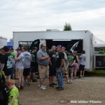 Line to purchase Bryan Clauson apparel. (Bill Miller Photo)