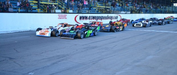 Small Block Supermodifieds. (Image courtesy of Oswego Speedway)