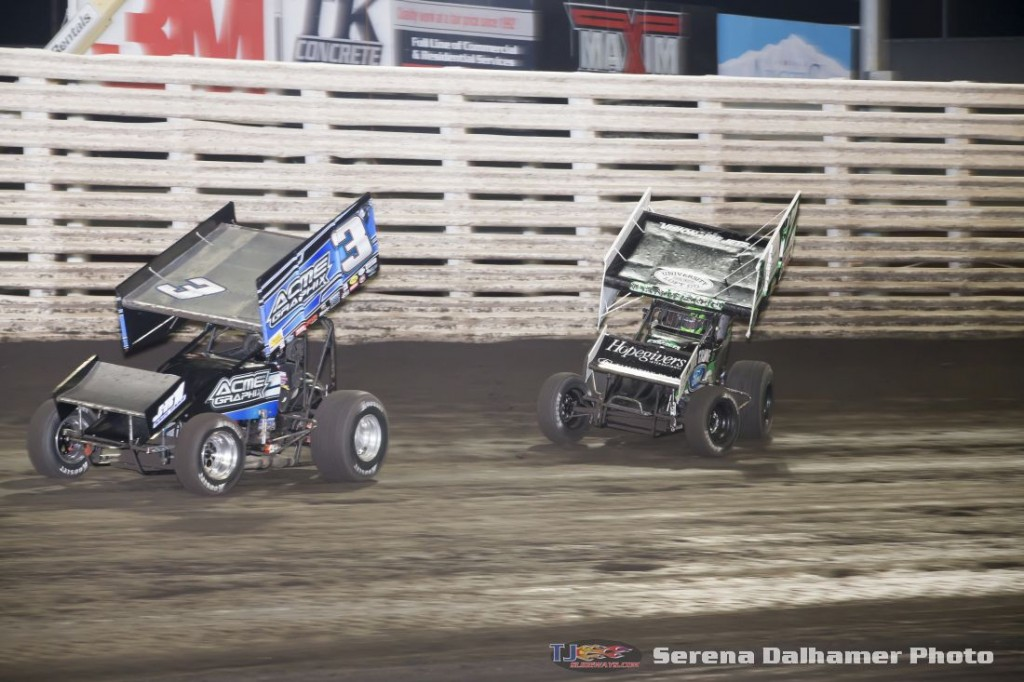 Sammy Swindell (3S) and Bryan Clauson (17WX) (Serena Dalhamer photo)