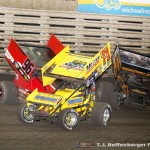 Bronson Maeschen (96), Dave Blaney (71M), and Danny Lasoski (2) (Serena Dalhamer photo)