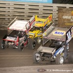 Brent Marks (19M), Randy Hannagan (11N), and Dave Blaney (71M) (Serena Dalhamer photo)