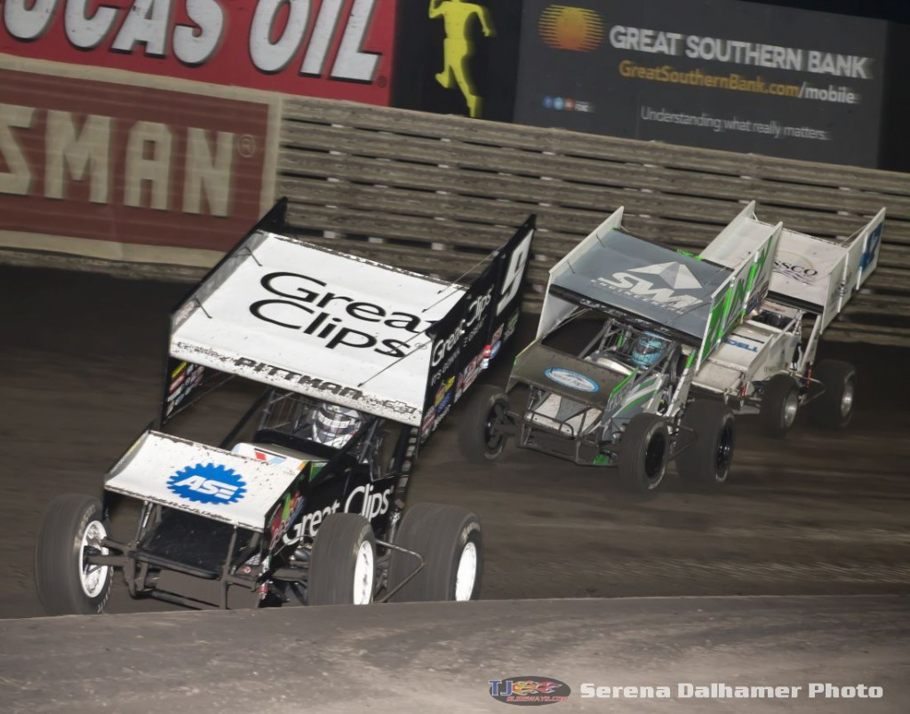 Daryn Pittman (9), Jamie Veal (71), and Jeff Swindell (47) (Serena Dalhamer photo)