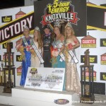 Jason Johnson with the Knoxville Nationals queen and her court. (Mark Funderburk Photo)