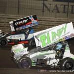 Jamie Veal (#71) racing with Kerry Madsen (#1). (Mark Funderburk Photo)