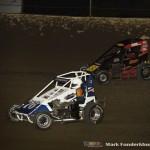 Kellen Conover (#76) racing with Nick Bailey (#89) Saturday night at Federated Auto Parts Raceway at I-55. (Mark Funderburk Photo)