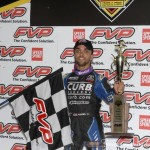Rico Abreu after winning the feature Friday at the 5-hour ENERGY Knoxville Nationals presented by Casey's General Stores. (Mark Funderburk Photo)