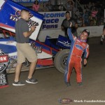 Rico Abreu in victory lane following his victory with the World of Outlaws Craftsman Sprint Car Series at  the Ironman 55 at Federated Auto Parts Raceway at I-55. (Mark Funderburk Photo)