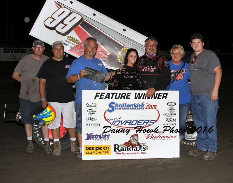 John Schulz topped a tough field in Donnellson Friday night (Danny Howk Photo)