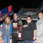 Ryan Ruhl with Mike Olrich's children Joslyn, Taylor, and Josh. (T.J. Buffenbarger Photo)