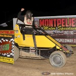 Shane Hollingsworth won the 20 lap midget feature event at the Montpelier Motor Speedway on Saturday night September 3, 2016. (Bill Miller Photo)