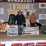 Chris Windom in victory lane following his victory in the USAC Silver Crown Series at Eldora Speedway during the 4-Crown Nationals. (Bill Miller Photo)