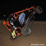 #21D Justin Dickerson was uninjured after flipping during the feature event. (Bill Miller Photo)