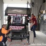 Technical inspection at the Canadian Sprint Car Nationals. (Apex One Photo)