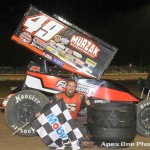 Scott Kreutter won the little feature during the Canadian Sprint Car Nationals at Ohsweken Speedway. (Apex One Photo)