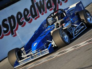 The John Nicotra Racing No. 7 Novelis Supermodified driven by 7-time Oswego Speedway champion Otto Sitterly will be on display at the SEMA Show in Las Vegas, NV from November 1-4. (Bill Taylor)