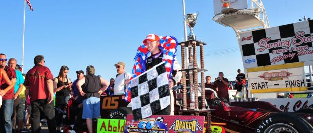 Oswego Speedway's 2016 Budweiser International Classic 200 champion Jeff Abold will appear at Destiny USA's Pole Position Raceway LIVE this Tuesday in Syracuse. (Bill Taylor)