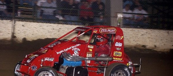 Wayne's last run at the 2008 Chili Bowl (Doug Johnson Photo)