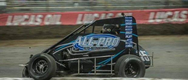 Sam in action at the Chili Bowl