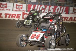 Chad Boat (84X), Donny Schatz (15) and Jerry Coons Jr (5) (Serena Dalhamer photo)