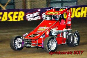 Wayne is on the gas at the Chili Bowl (sprintcarsis Photo)