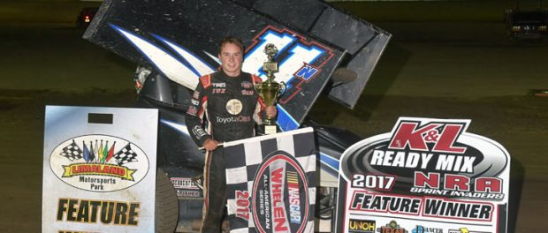Christopher Bell won the NRA Sprint Invader feature Friday night at Limaland Motorsports Park. Mike Campbell photo