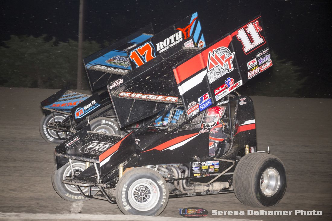 Kraig Kinser (11K) and Joey Saldana (17) (Serena Dalhamer photo)