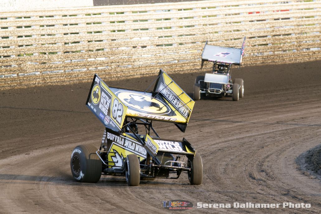 Dusty Zomer (82) and Dale Blaney (1Z) (Serena Dalhamer photo)