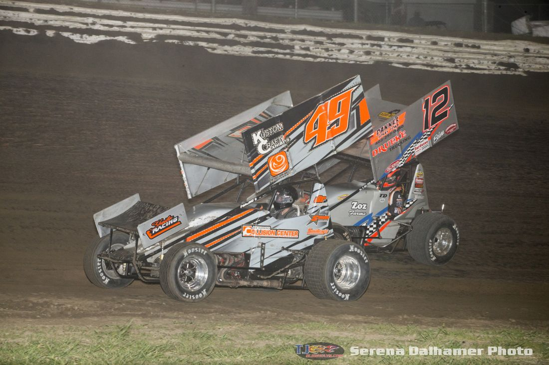 Justin Fifield (49) and Tyler Drueke (12) (Serena Dalhamer photo)