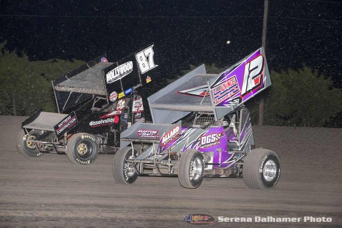 Aaron Reutzel (87) and Dale Wester (12W) (Serena Dalhamer photo)
