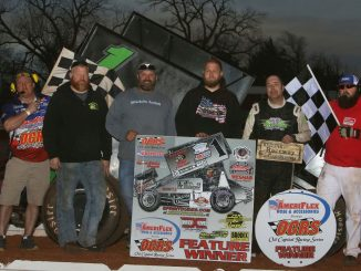 Sean McClelland and in victory lane. (Mike Howard photo)