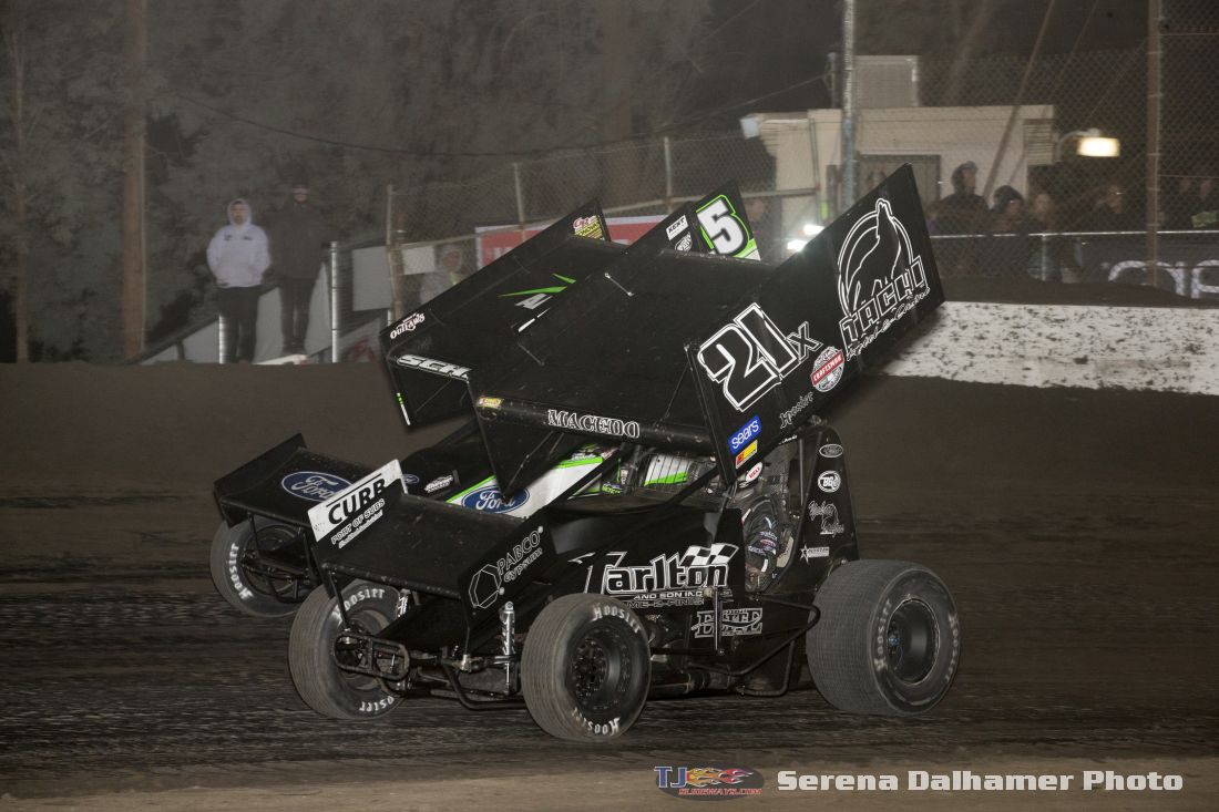 Carson Macedo (21X) and Donny Schatz (15) (Serena Dalhamer photo)