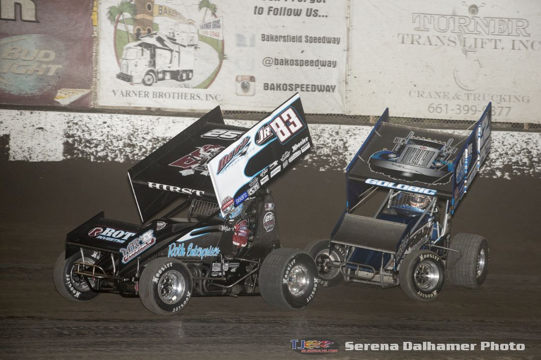 Kyle Hirst (83JR) and Shane Golobic (22) (Serena Dalhamer photo)