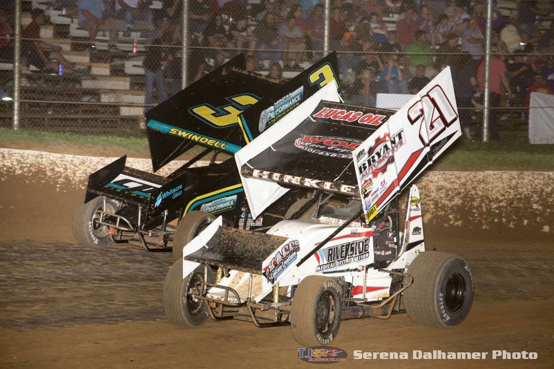 Kevin Hinkle (21K) and Sammy Swindell (3) (Serena Dalhamer photo)