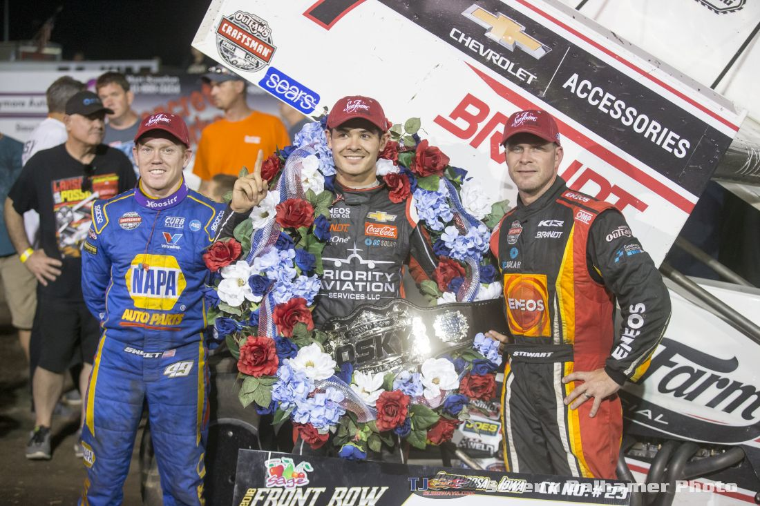 Brad Sweet, Kyle Larson, and Shane Stewart (Serena Dalhamer photo)