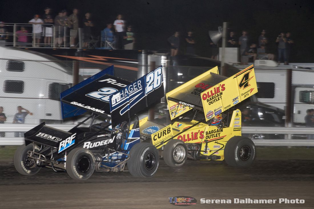 Joey Saldana (26) and Kasey Kahne (4) (Serena Dalhamer photo)