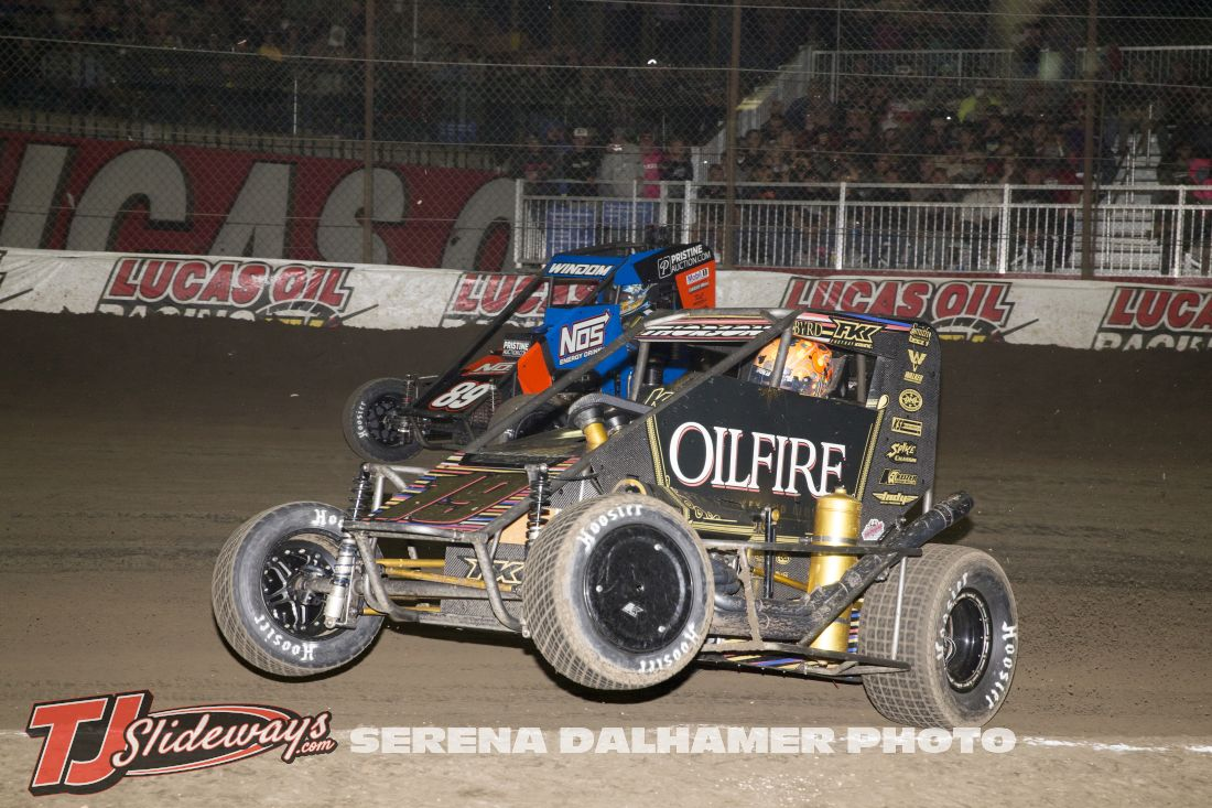 Chris Windom (89) and Tanner Thorson (19) (Serena Dalhamer photo)