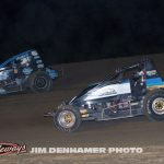 Parker Fredrickson (#58) racing with Steve Little (#53). (Jim Denhamer Photo)
