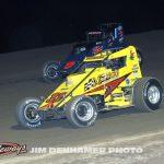 Matt Westfall (#33m) racing Steve Irwin (#0). (Jim Denhamer Photo)
