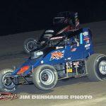 Lee Underwood (#24) racing with Steve Irwin (#0). (Jim Denhamer Photo)